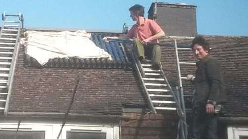 solar collector- installation